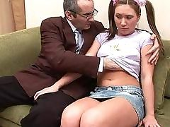 Teacher is obtaining dirty oral job
