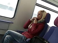 adorable german gal sex on public transport