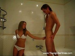 Super-Hot hookup in a shower