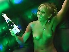 Nude drunk russian club bang-out soiree gonzo