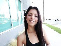 Latina teenager jizzed in pov