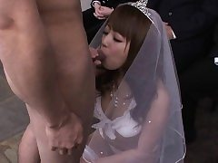 During her wedding she has to deepthroat on a rock hard wiener