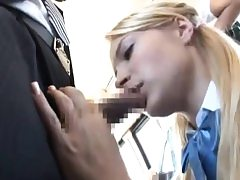 Girl give BBJ & got fucked to multiple ejaculation on bus