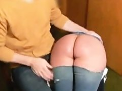 Clyster and smacking for slut Naomi 19