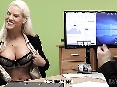 LOAN4K. Ash-blonde princess offers her wet slits for...