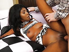 Ebony Teen Skinny Model Interracial Fuck