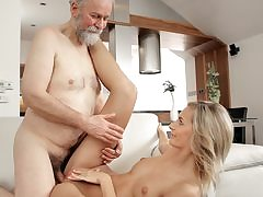 Mature guy humps mind-blowing wife in elderly and youthful movie