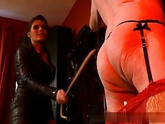 Elderly fellow all naked and naughty is ready to serve his domme on video