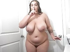 Lush whore with giant tits disrobes her yellow sundress temptingly