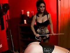 Horny BDSM movie with a slutty whore predominant over her stud